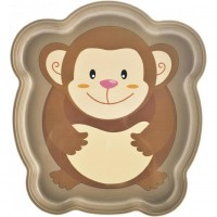 Farfurie plastic Lulabi, model maimuta