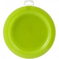 Farfurie plata din polipropilena Colors Lulabi, 22 cm, Verde