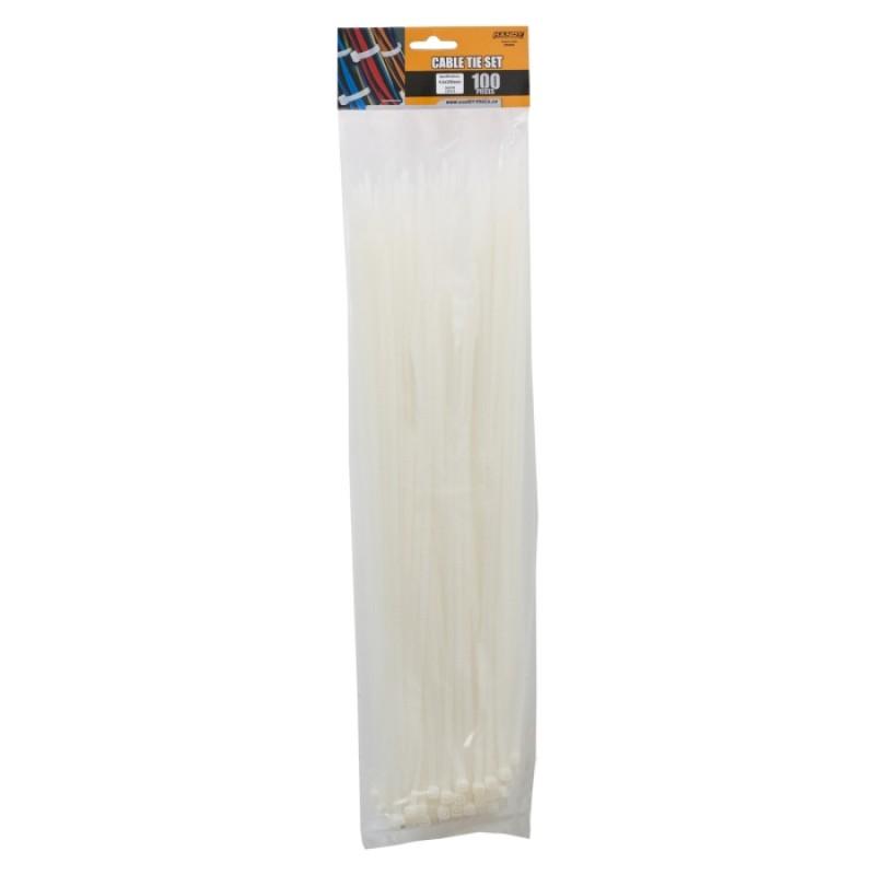 Set 100 fasete Handy, 390 x 4.6 mm, nylon, Transparent 2021 shopu.ro