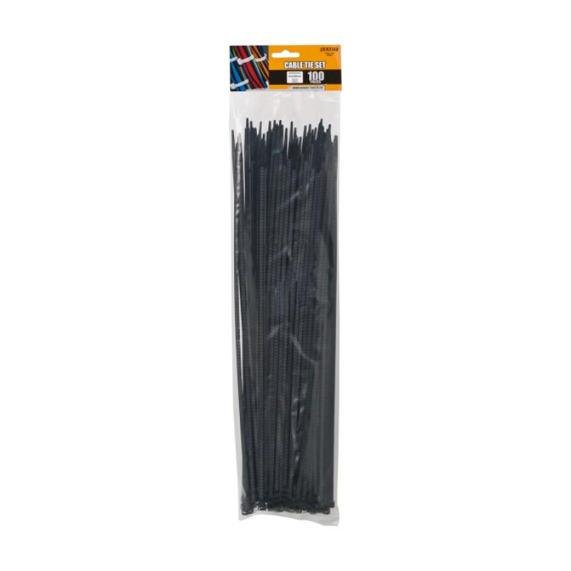 Set 100 fasete Handy, 390 x 4.6 mm, nylon, Negru 2021 shopu.ro