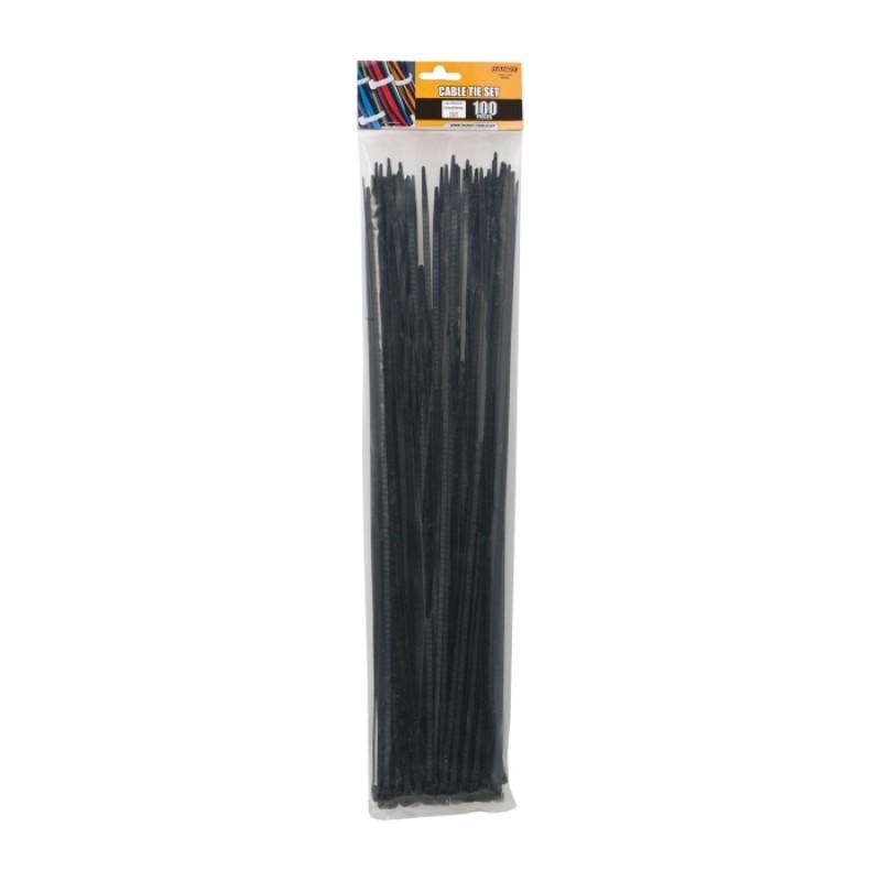 Set 100 fasete Handy, 450 x 4.6 mm, nylon, Negru 2021 shopu.ro