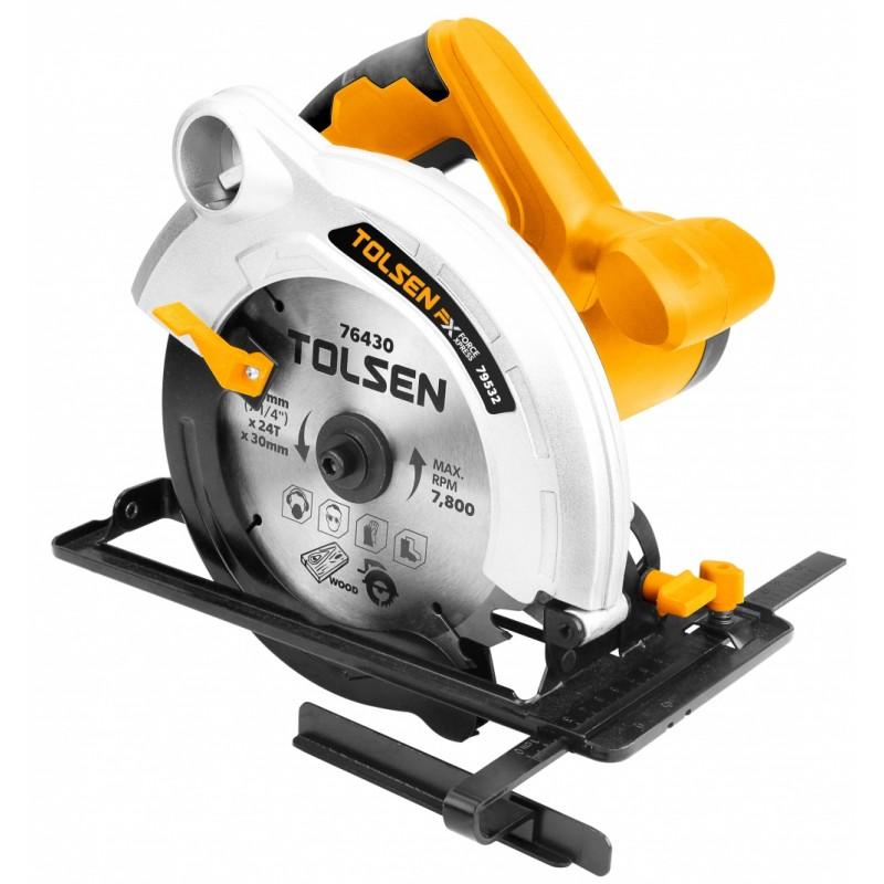 Fierastrau circular Tolsen FX Force Xpress, 1300 W, 5000 rpm, uz industrial shopu.ro