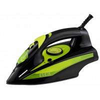Fier de calcat Heinner Perform, 2400 W, talpa ceramica, anti-picurare, termostat, indicator luminos, Negru/Verde