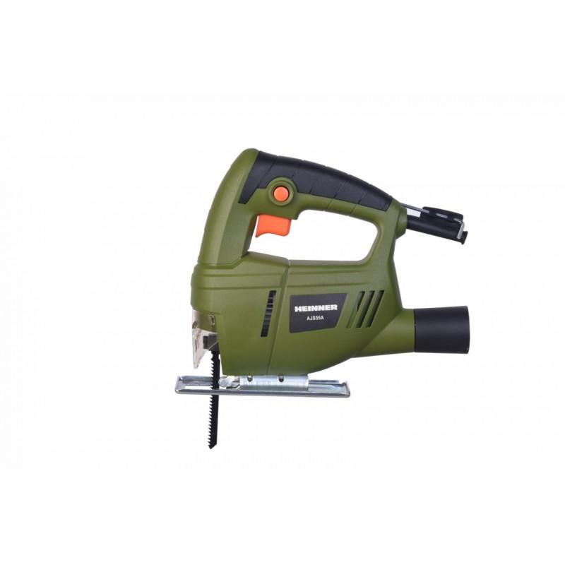 Fierastrau vertical Heinner, 400 W, 3000 RPM, 55 mm, maner softgrop, comutator lock on, accesorii incluse, Verde shopu.ro