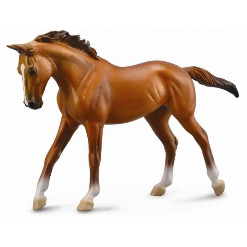 Figurina Cal Thoroughbred Mare Chestnut Deluxe, 29 x 17 cm