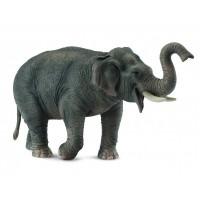 Figurina Elefant asiatic XL Collecta, 15 x 8.5 cm