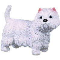 Figurina West Highland White Terrier Collecta, 3.5 x 3 cm, 3 ani +