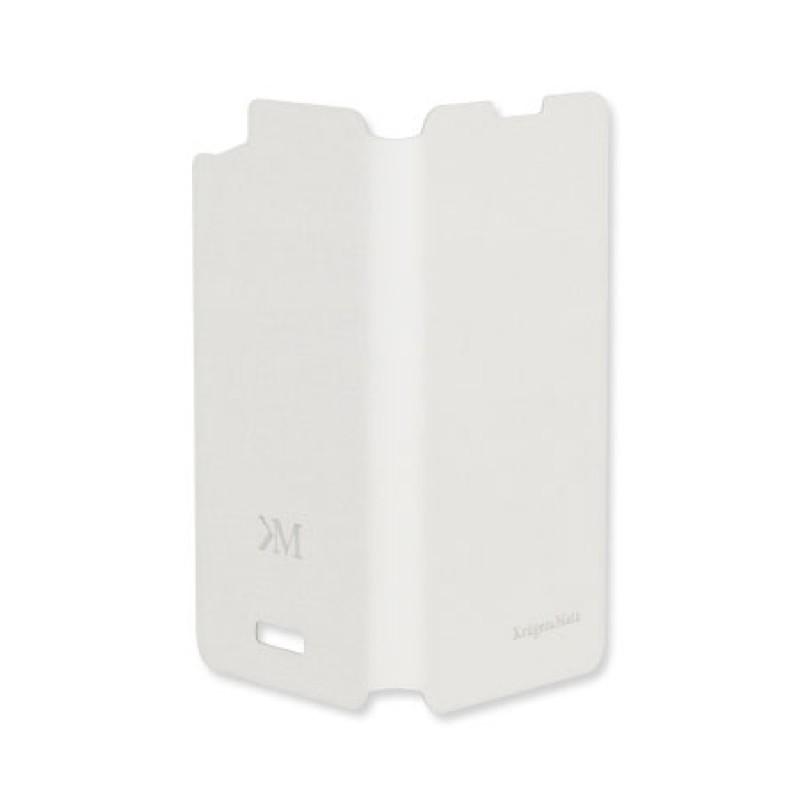 Husa Flip Cover Case telefon Kruger & Matz Flow, Alb 2021 shopu.ro