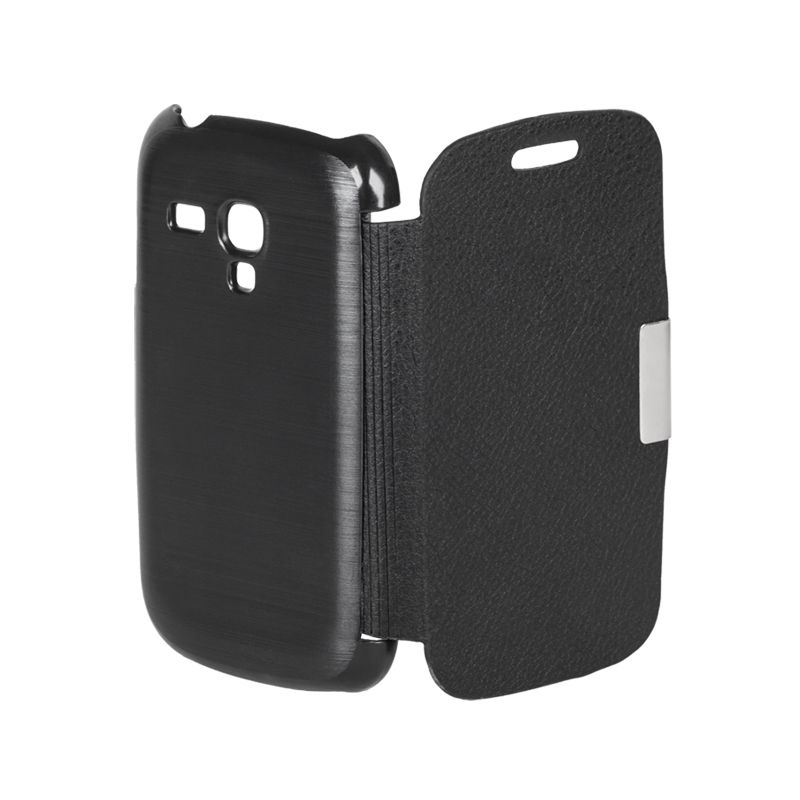 Husa Flip Cover telefon Samsung Galaxy S3 Mini, Negru 2021 shopu.ro
