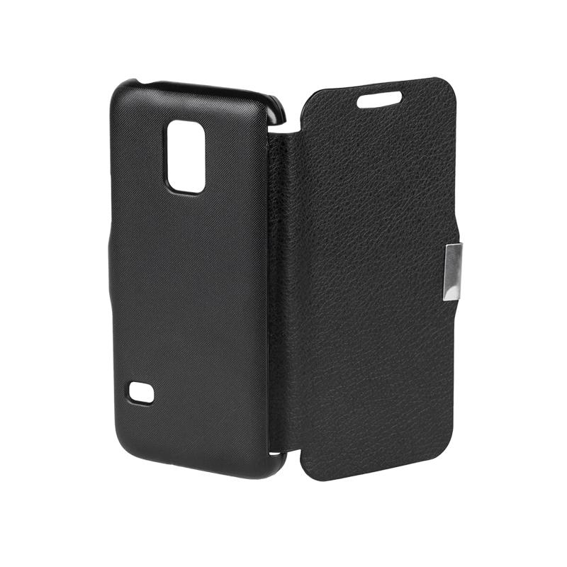 Husa Flip Cover telefon Samsung Galaxy S5 Mini, Negru 2021 shopu.ro