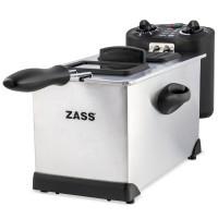 Friteuza Zass, 2000 W, 3 L, temporizator 30 min, termostat reglabil 130-190 grade