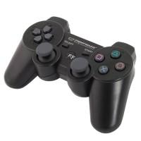 Gamepad bluetooth PS3 Marine Esperanza, 2 moduri operare, buton Start