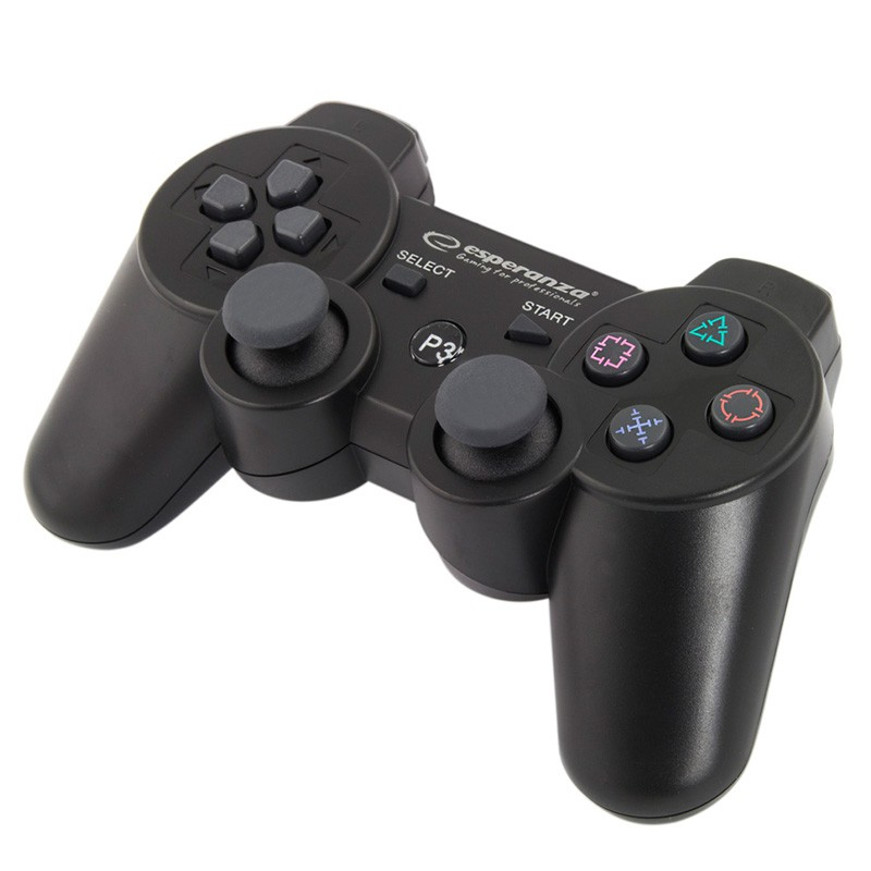 Gamepad bluetooth PS3 Marine Esperanza, 2 moduri operare, buton Start 2021 shopu.ro