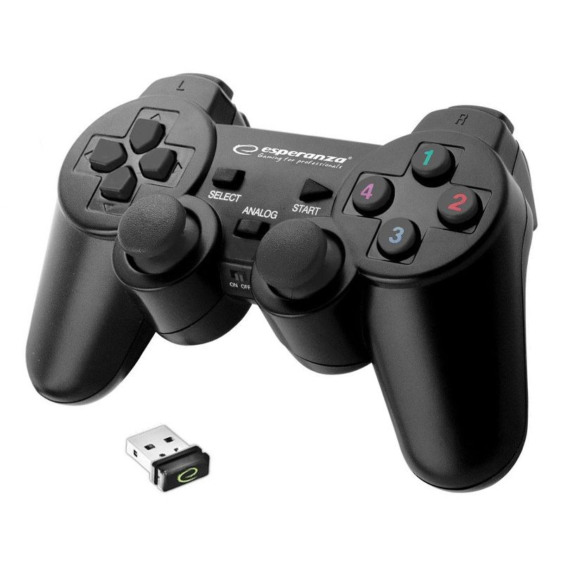 Controller wireless pentru PS3/PC Esperanza Gladiator, vibratii, design ergonomic 2021 shopu.ro