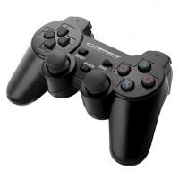 Gamepad compatibil PS3/PC Trooper Esperanza, USB 2.0, 2 moduri, 8 directii, forma ergonomica