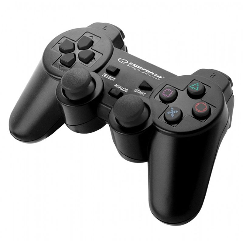 Gamepad compatibil PS3/PC Trooper Esperanza, USB 2.0, 2 moduri, 8 directii, forma ergonomica 2021 shopu.ro