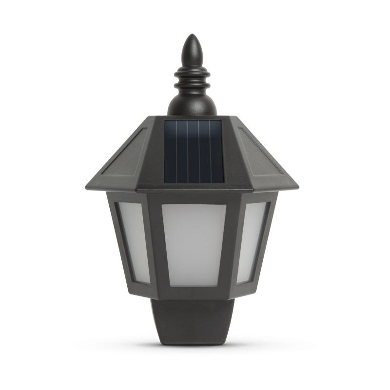 Garden of Eden lampa solara, 28 x 19,5 x 9,6 cm, LED, efect flacara, intrerupator, 500 mAh, IP44, Negru shopu.ro