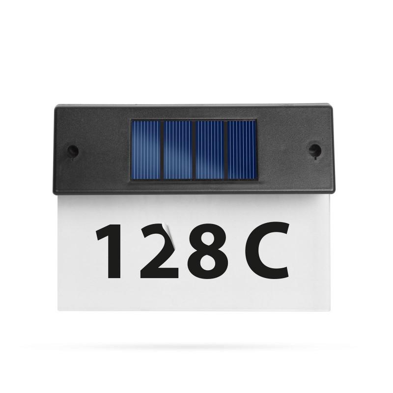 Numar de casa solar Garden of Eden, 18 x 20 cm, 1 x AA, 600 mAh, 5 LED-uri shopu.ro