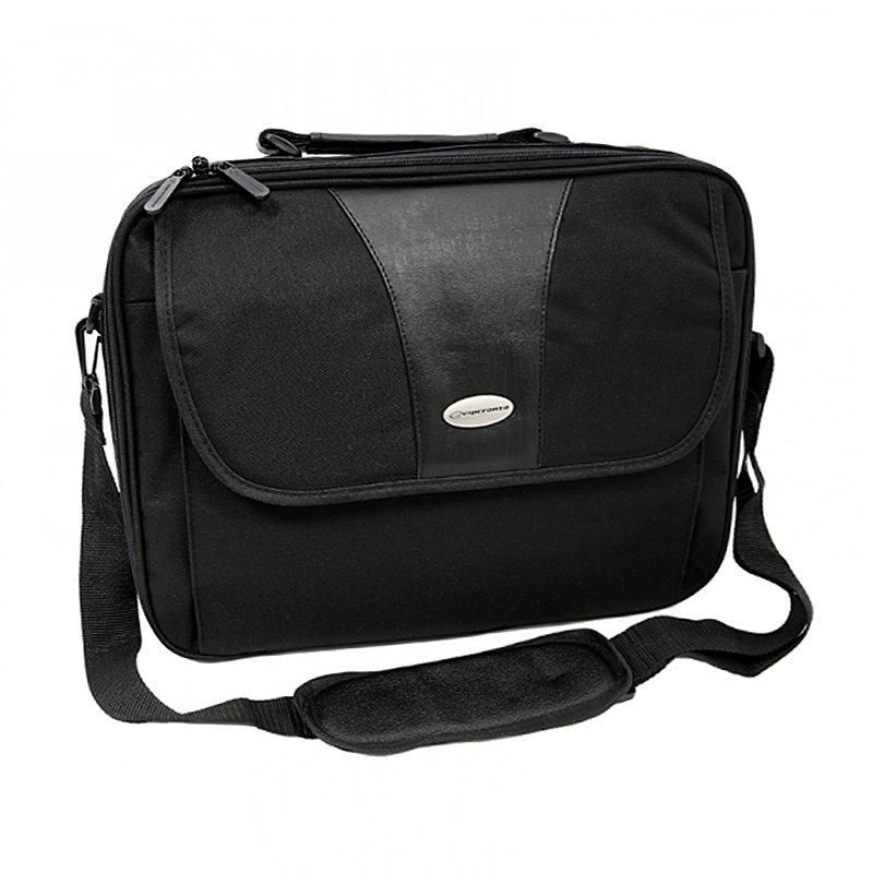 Geanta laptop Manhattan Esperanza, 15.6 inch, compartiment documente, Negru 2021 shopu.ro