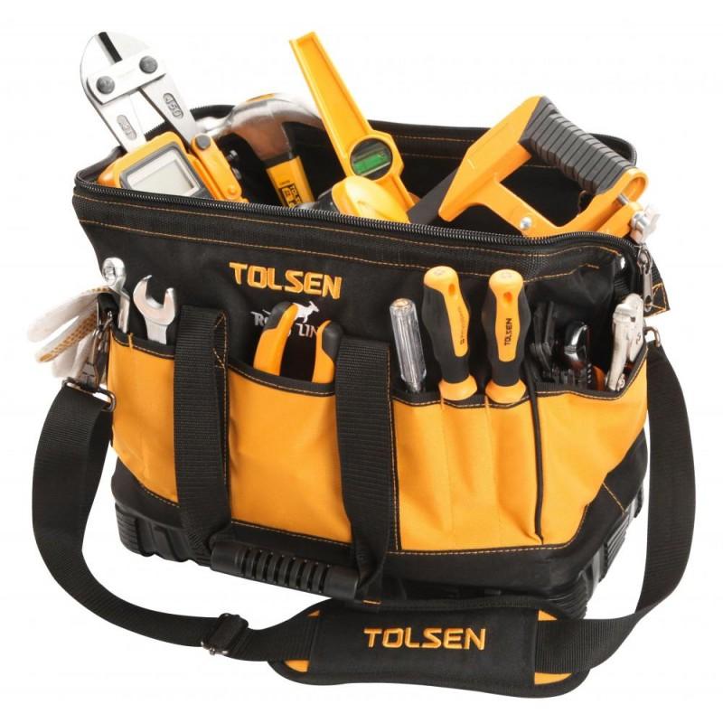 Geanta pentru unelte Tolsen, 16 inch, baza intarita plastic shopu.ro