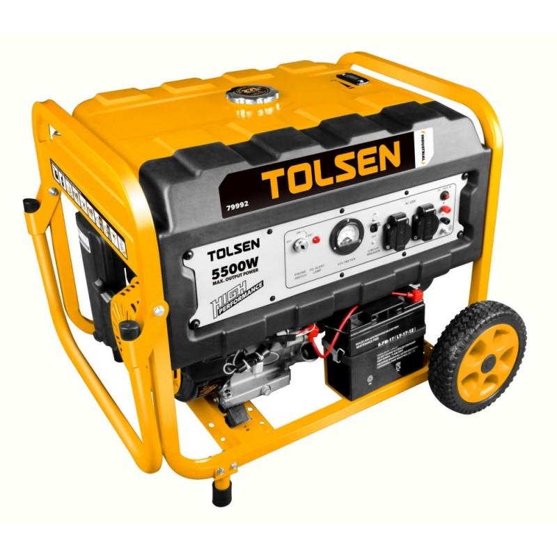 Generator benzina Tolsen, 5500 W, 420 CC, 27 l, motor 4 timpi 2021 shopu.ro