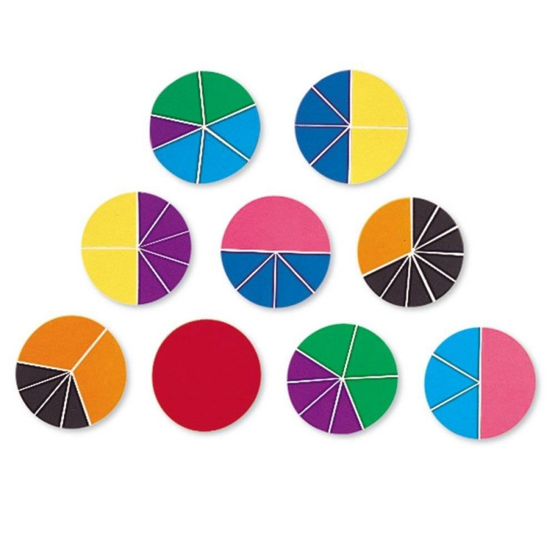 Geometria fractiilor Cercuri Learning Resources, 9 cercuri, 6 - 11 ani