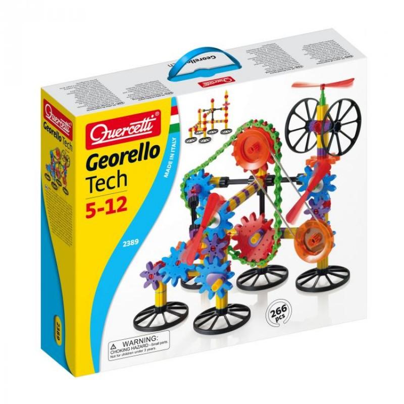 Jucarie interactiva Georello 3D Gear Tech, 266 piese, 5 ani+