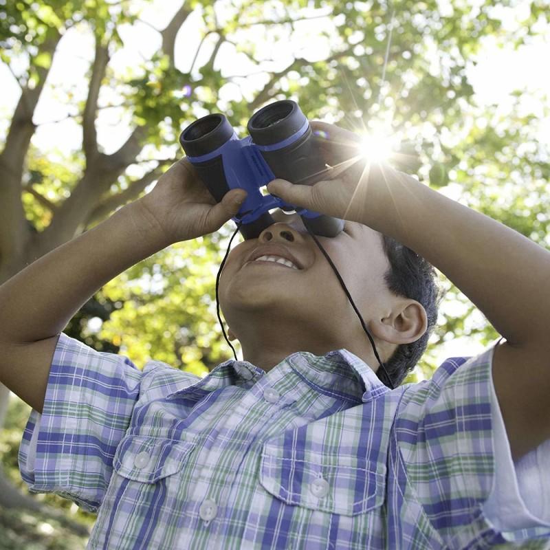 Binoclu cu busola GeoSafari, lentile de sticla 30 mm, marire 4x, 10.9 x 10.9 x 4 cm