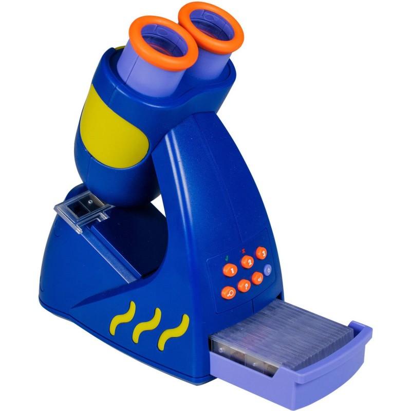 Microscopul vorbitor Geosafari, 20 de lame cu 60 de imagini, 23 cm, 4 - 6 ani 2021 shopu.ro