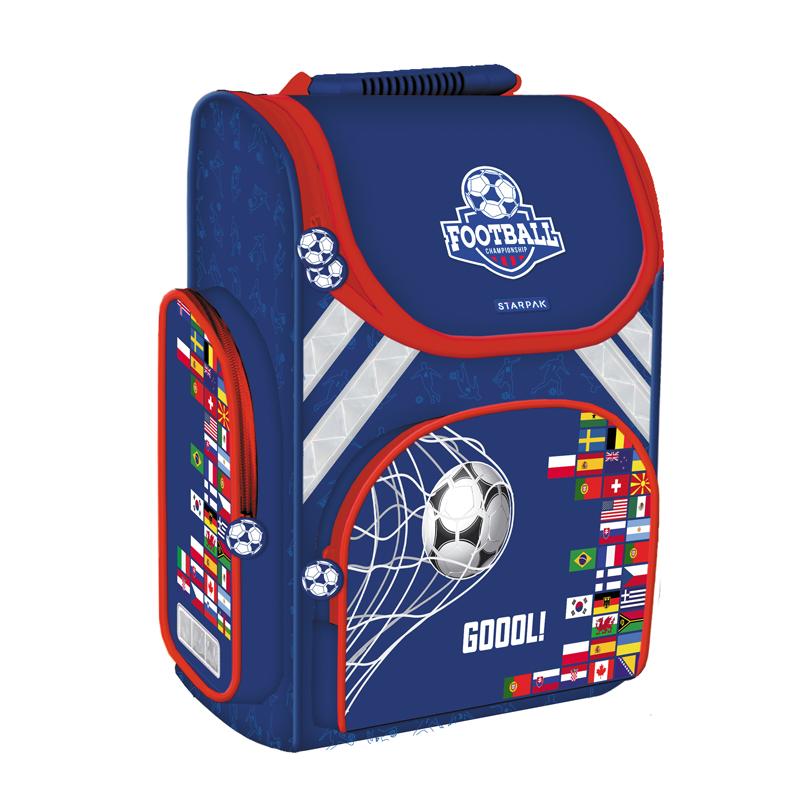Ghiozdan Ergonomic Footbal Starpak, spate ergonomic, albastru 2021 shopu.ro