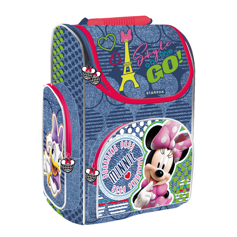 Ghiozdan Ergonomic Minnie Mouse Starpak, 37 x 27 x 14,.5 cm, mov