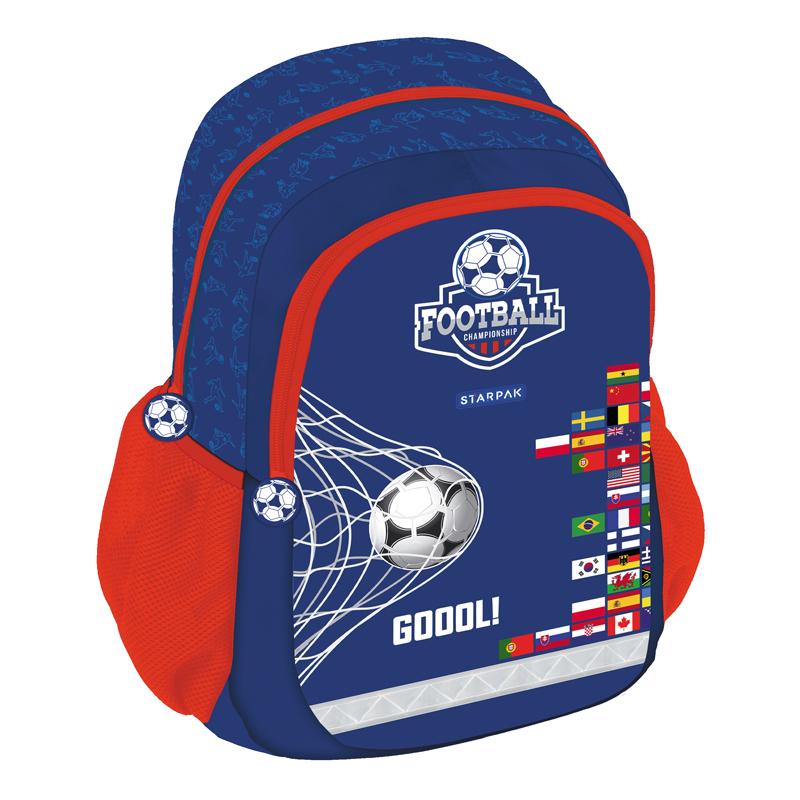Ghiozdan Prescolar Fotbal Starpak, 41 x 31 x 21 cm, albastru 2021 shopu.ro