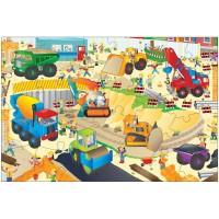 Giant Floor Puzzle: Santierul, 30 piese, 3 ani+