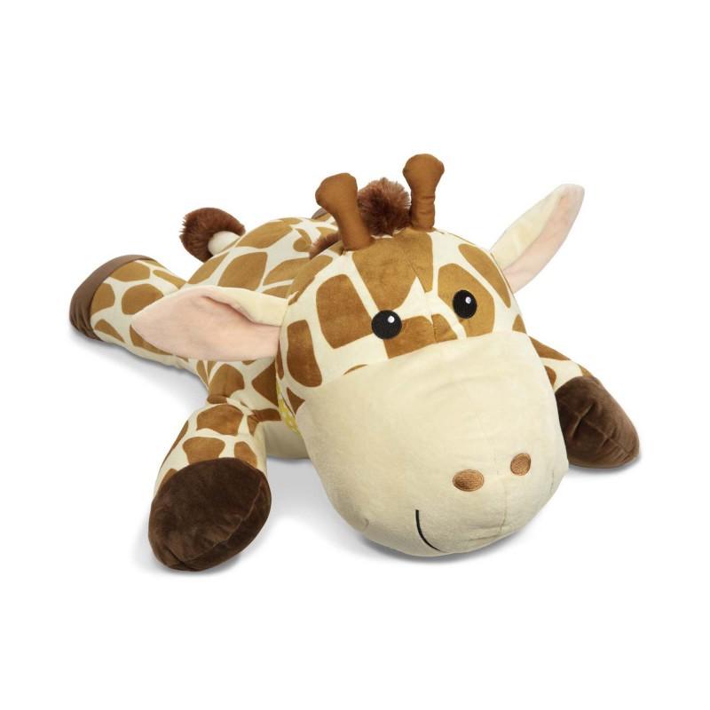 Jucarie de plus Girafa Melissa & Doug, 65 x 55 cm, 0 ani+, Bej/Maro 2021 shopu.ro