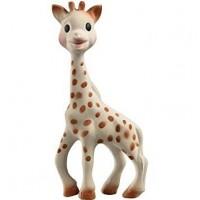 Jucarie pentru dentitie girafa Sophie Fresh Touch Vulii, 17 cm, cauciuc, 0 luni+