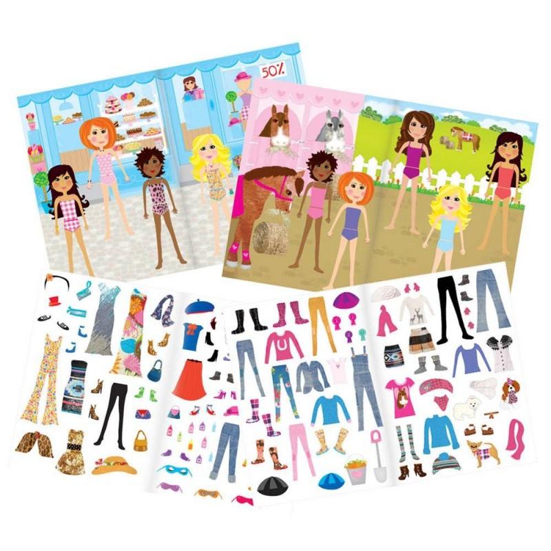 Carte pentru fetite abtibilduri Galt Fashion, 20 de pagini, 4 ani+ 2021 shopu.ro