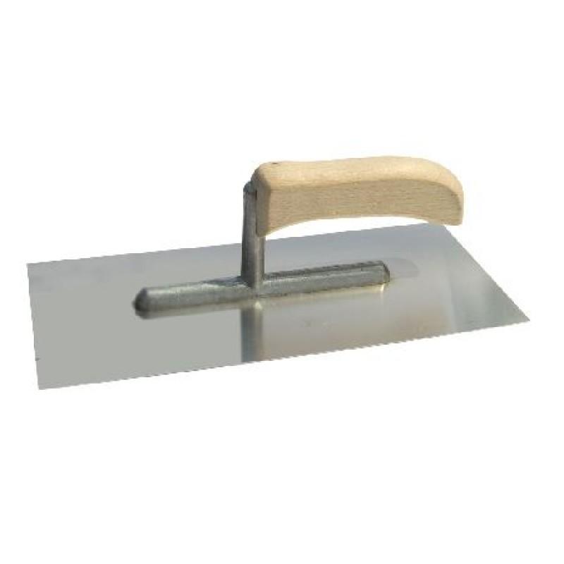 Gletiera inox Polonia, 270 x 130 mm, maner lemn 2021 shopu.ro
