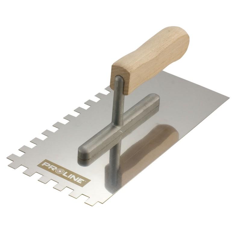 Gletiera inox dintata Proline, 270 x 130/4 mm, maner lemn 2021 shopu.ro