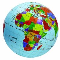 Glob pamantesc gonflabil cu harta lumii Brainstorm Toys, 50 cm, Multicolor