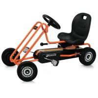 Kart pentru copii Hauck Go Kart Lightning Orange, frana de mana, 3-8 ani