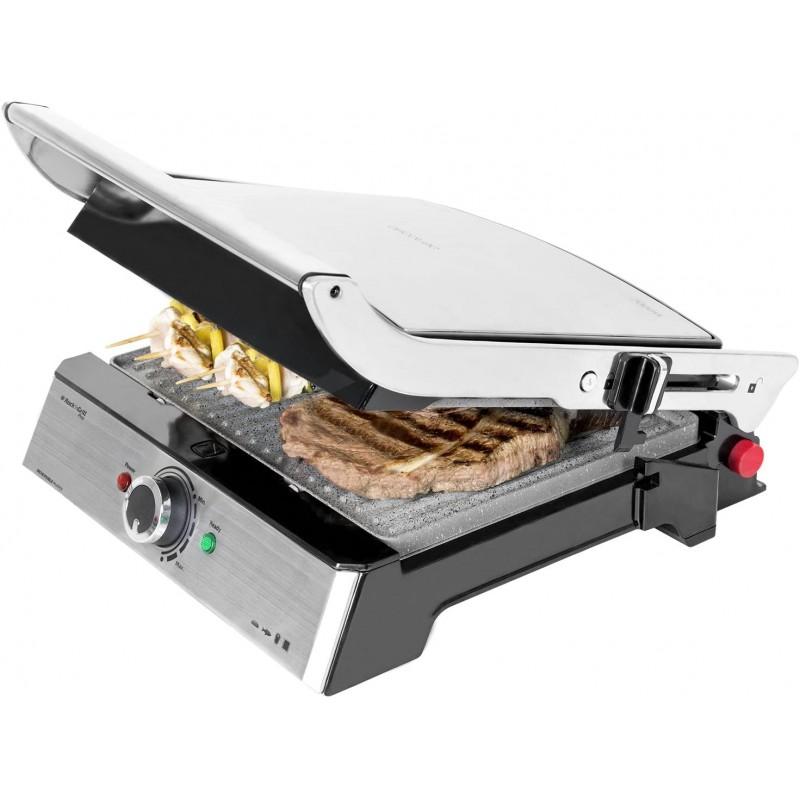 Gratar electric Cecotec 3 in 1 Rock n Grill Pro, 2000 W, LED, regulator putere, maner rece 2021 shopu.ro