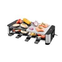 Gratar electric Gallet Chef-Bouto, 1400 W, 49.5 x 12 x 22 cm, metal/piatra, control temperatura, picioare antiderapante, semnalizare luminoasa