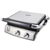 Grill electric Zass Grill & Panini Chef, 2000 W, placi detasbile, dimensiuni placi 29-23 cm, deschidere 180 grade