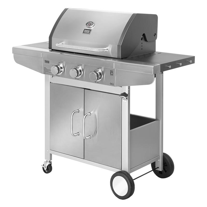 Gratar barbeque Master Grill 3000, 1080 kW, 37 mBar, 3 arzatoare, termometru, aprindere automata shopu.ro
