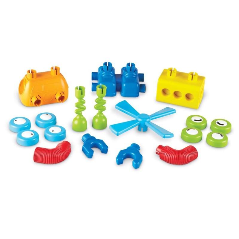 Set de constructie Robotel colorat Learning Resources, 18 piese, plastic, 2 ani+ 2021 shopu.ro