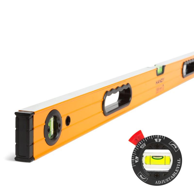 Nivela cu boloboc rotativ Handy, 1000 x 60 x 25 mm, aluminiu, 3 bule 2021 shopu.ro