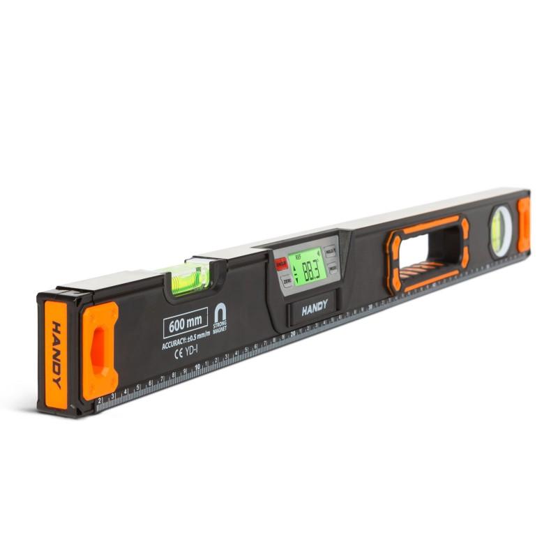 Nivela digitala Handy, 600 x 58 x 28 mm, 2 bule, plastic, afisaj LCD, semnalizare sonora shopu.ro