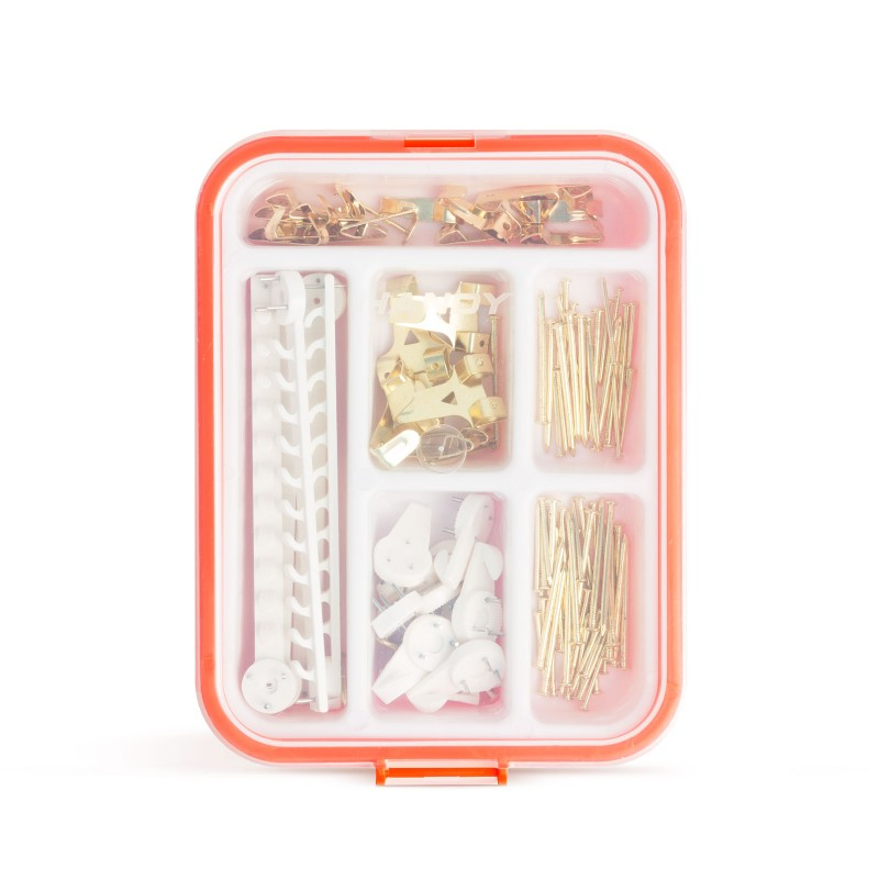 Set cuie/carlige Handy, 160 piese, caseta plastic 2021 shopu.ro