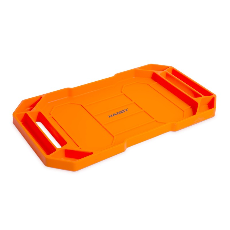 Tava pentru unelte Handy, 53 x 29.5 x 3.5 cm, cauciuc, 2 compartimente, Portocaliu shopu.ro