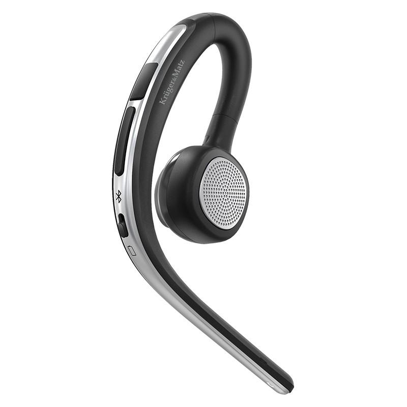 Headset Traveler Kruger & Matz, Bluetooth 5.0, 100-500 mA, maxim 12 ore, cablu micro USB inclus 2021 shopu.ro